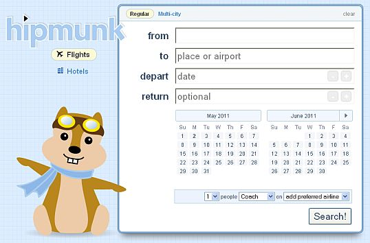 Hipmunk lennupiletite otsing Hipmunk better flight search
